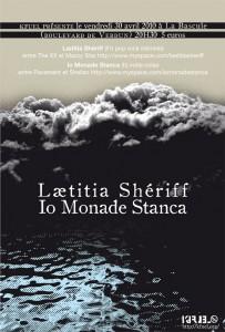 Concert Lætitia Sheriff et Io Monade Stanca